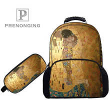 Custom 17inch Gustav_Klimt  Backpacks Pen Bags 3D Printing School Wome
