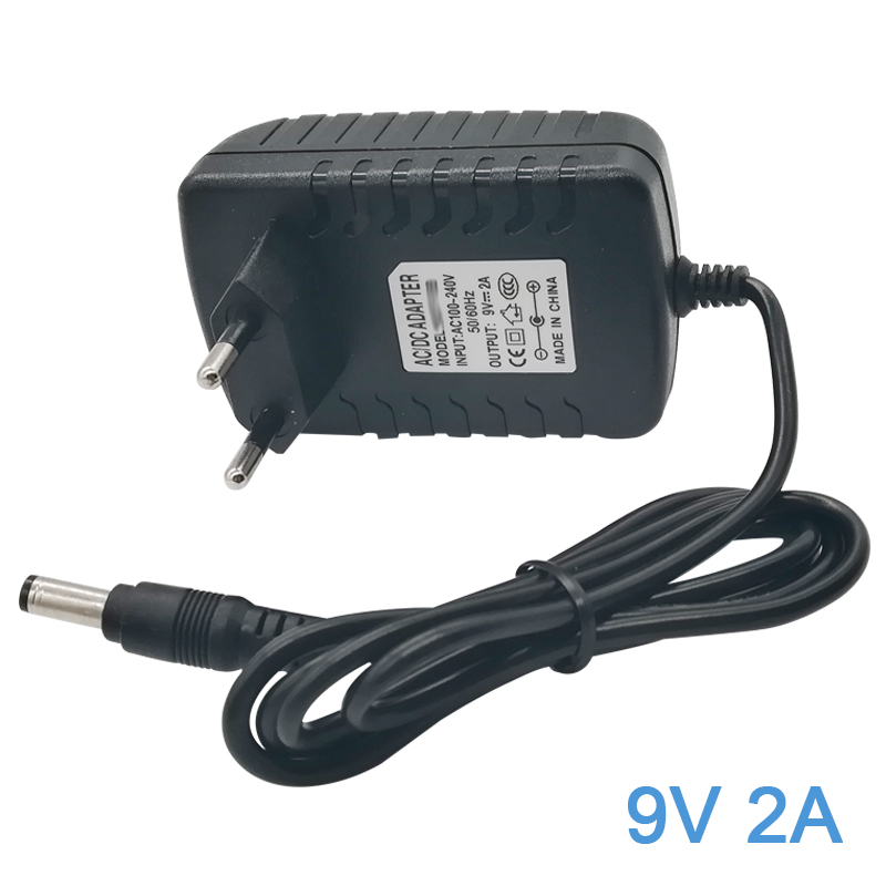 <font><b>Power</b></font> Supply <font><b>9V</b></font> <font><b>2A</b></font> 18W Charger AC DC <font><b>Adapter</b></font> for Arduino UNO R3 Crosley Cruiser Portable Turntable Record Player 5.5mm x 2.1mm image
