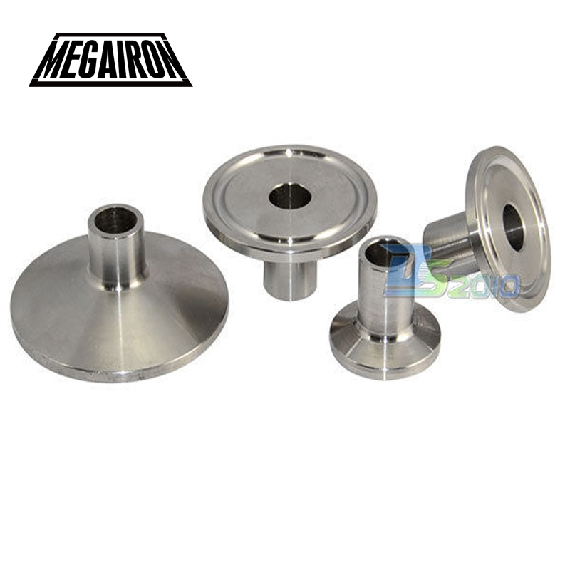 MEGAIRON Pipe OD 1/2 Weld Ferrule OD 25mm/34mm/40mm/51mm Sanitary Pipe Fittings Fit Tri Clamp Stainless Steel SS304
