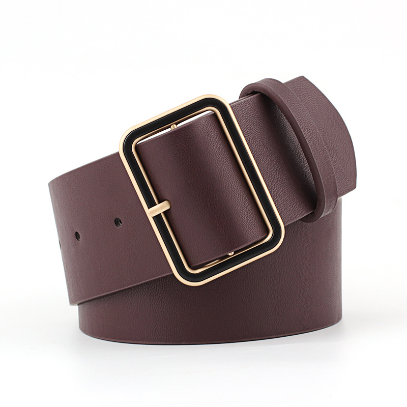 OLOME New Fashion 4.8cm Wide Black Red Leather Female Ladies Belts Hight Waist Waistband Corset Belts For Women Dress Coat
