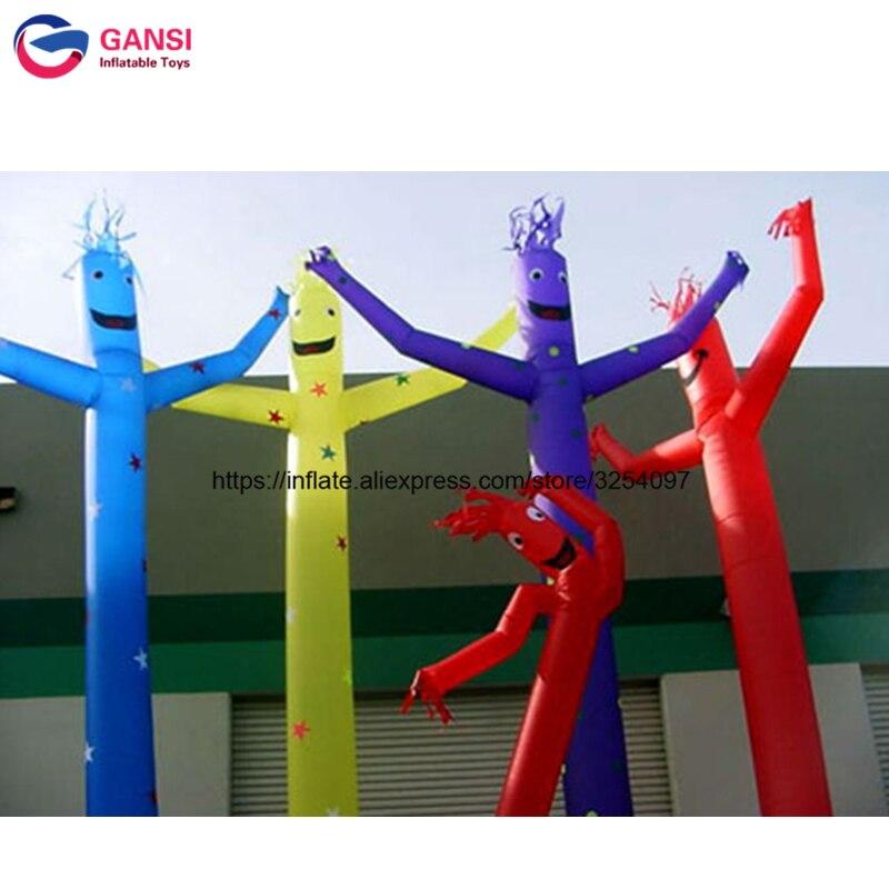 Pas cher publicité gonflable d'air de bureau tube homme Oxford tissu 4 m hauteur gonflable danse homme ciel danseur pour l'extérieur