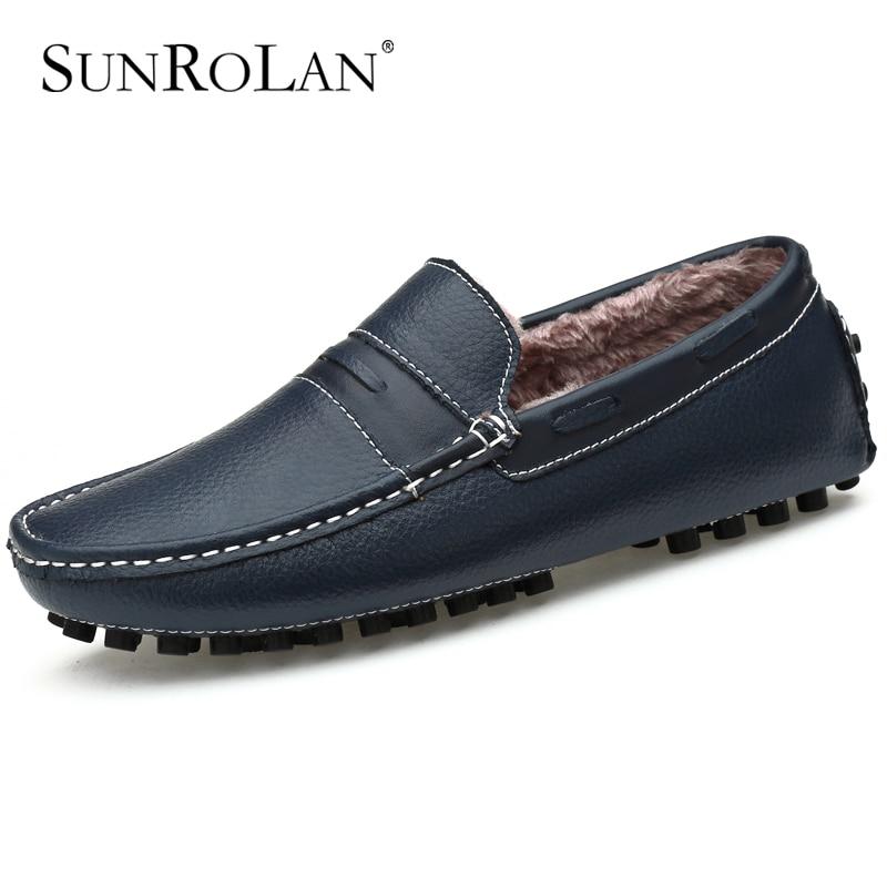 ФОТО Plush velvet winter men driving shoes soft genuine leather men loafers zapatos hombre cow split men dress shoes moccasins 9009