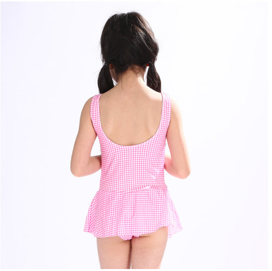 ac6b681b5d5fa 2017 New Europe and American Children swimsuit Girls one-piece Pink small  spot Girls bathing suit wholesale