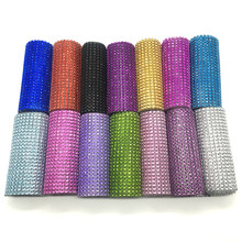 Promotion 1 yard/90cm Bling Diamond mesh Wrap Ribbon Rhinestone Mesh Roll Tape Tulle Crystal Ribbon Cake Wedding Decoration(China)