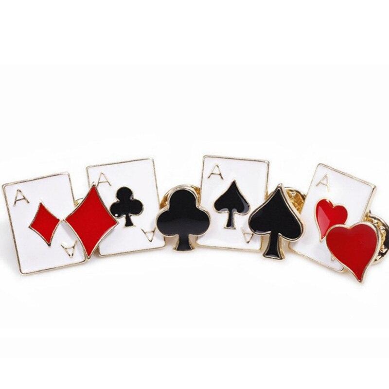 8 Teile/los Spielkarten Metall Poker Set Spade Club Pins Emaille Brosche Schmuck Broschen Für Frauen Revers Pin Männer Zubehör Cy001 Schmuck & Zubehör