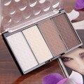 Polvo de cara del maquillaje Cosmético 4 en 1 Envío de La Gota Al Por Mayor de Cuatro Colores Polvos Prensados Highlight Contour Shading