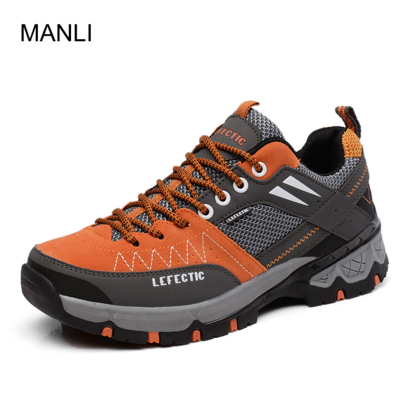 MANLI High Quality Men Hiking Shoes 2018 Outdoor Breathable Sport Shoes Trail Upstream Outventure Sneakers Man Climbing Athletic title=