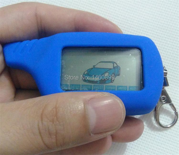 B6 LCD Touche De La Télécommande Fob + Tamarack Silicone Key Case pour Russe Version Two Way Système D'alarme De Voiture Starline B6 Twage