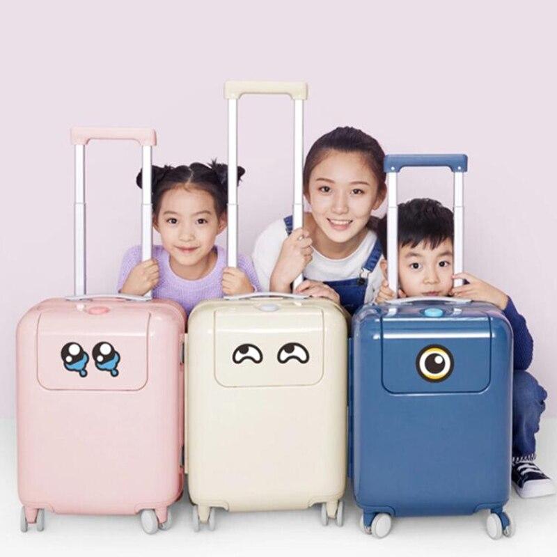 """旅行物語 17 """"インチ子供スーツケースに小さなキャリートロリー荷物袋  グループ上の スーツケース & バッグ からの キャスターバッグ の中 1"""