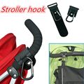 Hot Black Baby Pushchair Pram Buggy Baby Car Hanger Trolley Carabiner Clip Rotatable Hook Hanging Stroller Accessories for 35kg