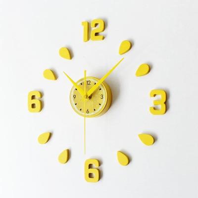 US $15.9 |New Arrival Lemon Design sticker EVA 30CM 60CM kitchen wall clock  colour large decorative 3d diy wall clock big-in Wall Clocks from Home & ...