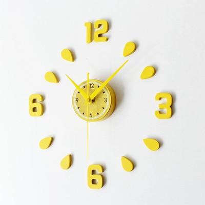 New Arrival Lemon Design Sticker Eva 30cm 60cm Kitchen Wall Clock Colour Large Decorative