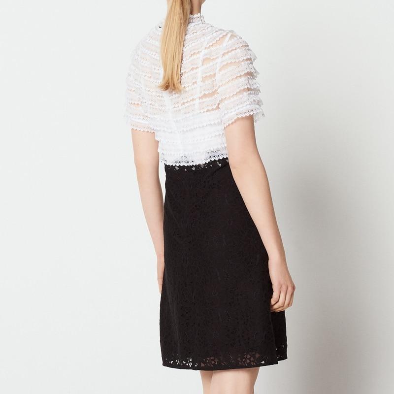 White Corto Diseñador Vestido Elegante Verano Mujer 2019 Encaje Vestidos De wIvvqzX