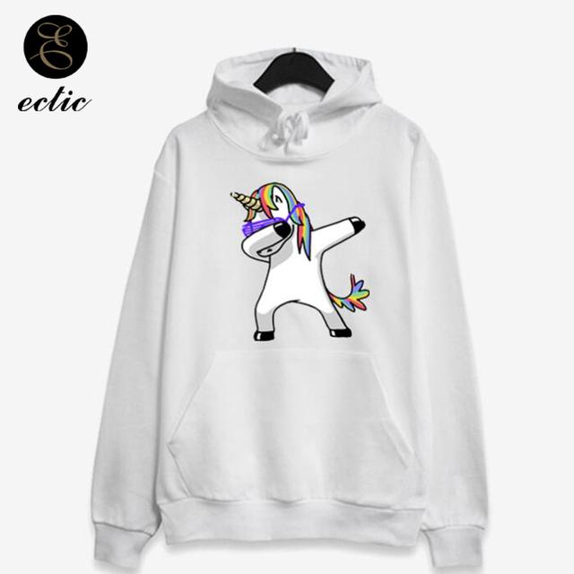 Hoodies Unicorn Pullover Dabbing Poleron Mujer 2018 Rainbow Rave Kangaroo Pocket Hoodie Women Harajuku Kawaii Sweatshirt Bts Nct