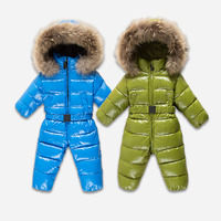 Russia Winter Snowsuits Jumpsuit Children's Cothing Girls Clothes Boys Parka Kids Jackets Down Coat Snow Wear Infantil Overall