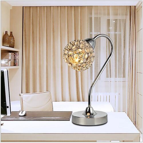 ФОТО Hot sale modern fashion luxurious K9 crystal Height 30cm led E14 table lamp living room bed room bedside desk light 1554