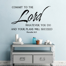Religious Wall Decal Bible Verse Vinyl Sticker Home Decoration Christian Quote Murals Text AY1432