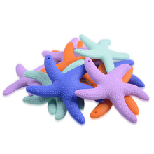 hot deal buy baby teethers starfish silicone baby teether bpa free silicone teether beads chewing baby teething pendant tooth training toys