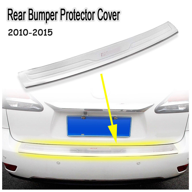 Car Rear Bumper Protector Cover Sill Guard Trim for 2010-2016 Lexus RX270 RX350 RX450h new arrival for lexus rx200t rx450h 2016 2pcs stainless steel chrome rear window sill decorative trims