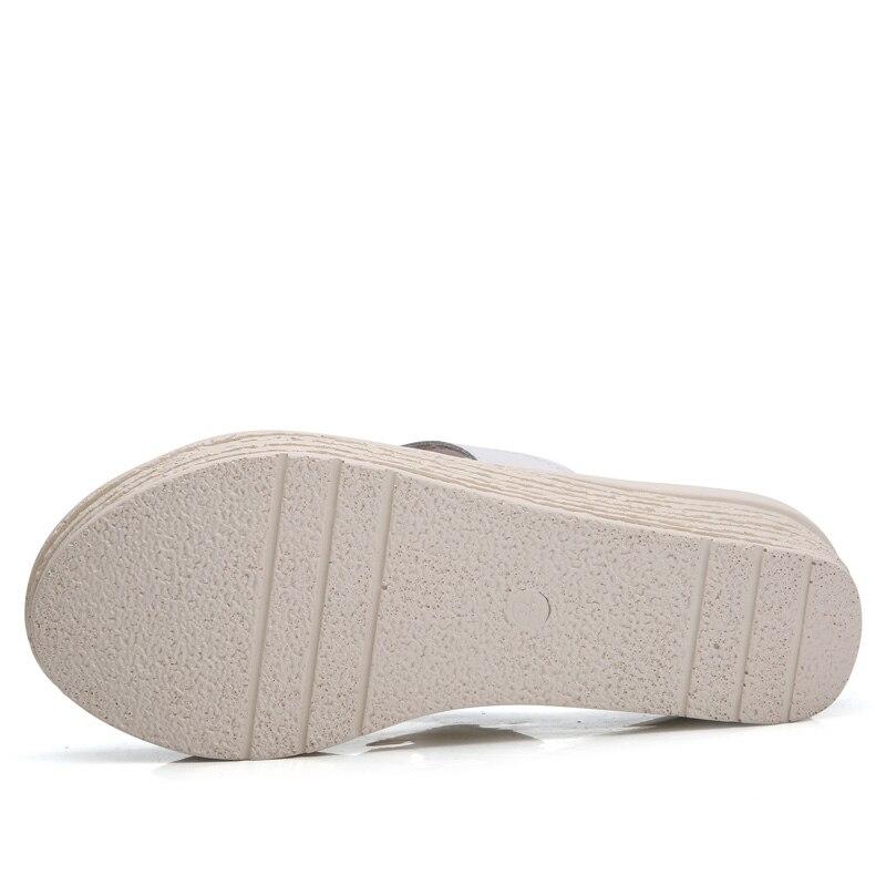 Coins Sandales argent Plate Ouvert Argent En 2018 Chaussures D'été Oxford Noir Blanc Véritable De Noir Bout forme blanc Cuir À Femmes Mode Appartements XE1qY