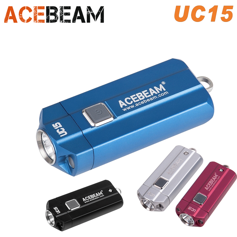 ACEBEAM UC15 EDC Torch CREE XP-L2 XPE2 Nichia LED max. 100lm torch beam distance 107m with red UV light EDC pocket flashlight