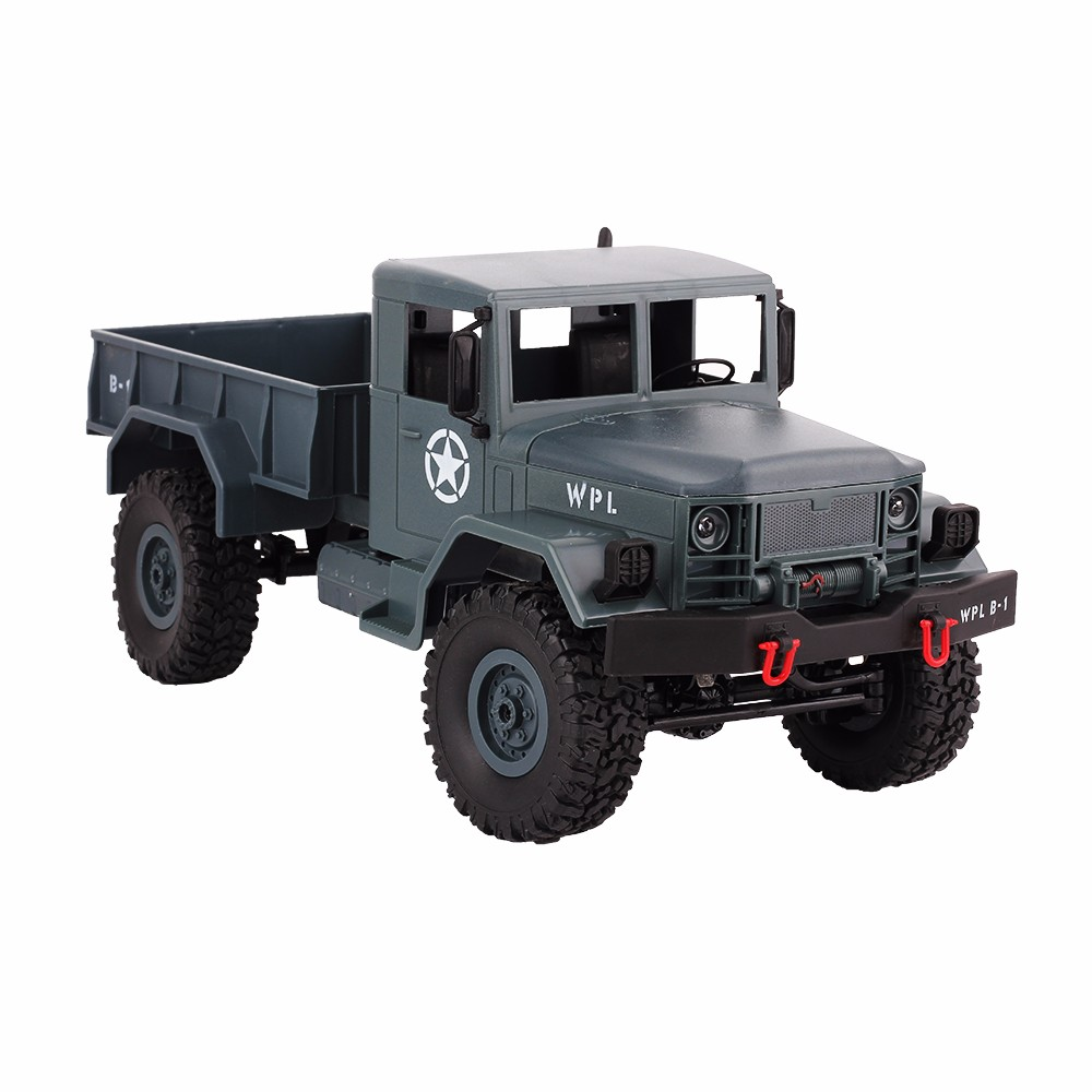 WPL 4WD 2.4G Remote Control Truck Scale 1:16 RC Crawler Military Truck Off Road Car Motorcycle Model Toy Cars Gift For Kids Boy new arrival wpl wplb 1 1 16 2 4g 4wd rc crawler off road car with light rtr toy gift for boy children