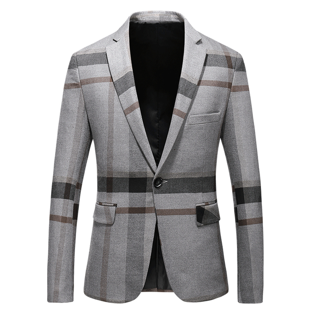 High Quality Blazers For Men Brand Clothing Dark Blue Grey Blazer Masculino Slim Fit Casual Jacket 4XL 5XL Plus Size
