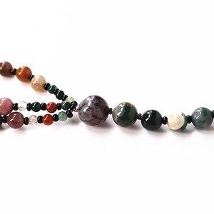 Image 5 - 1 pc Şans Jewel Şeker renk Doğal Agates Boncuk Vintage Kolye Uzun Hattı Katmanlama Kazak Ceket Takı Moda Dainty Mücevher hediye