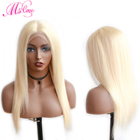 613 Lace Front Wig Blonde Lace Front Human Hair Wigs Straight Brazilian Wigs For Women Transparent Lace 150% Non Remy