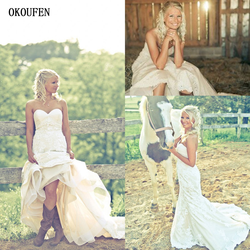 Rustic Wedding Dresses 2019 Mermaid Sweetheart Covered Buttons Sleeveless Vestidos De Novia Robe Marriage Country Bridal Gowns