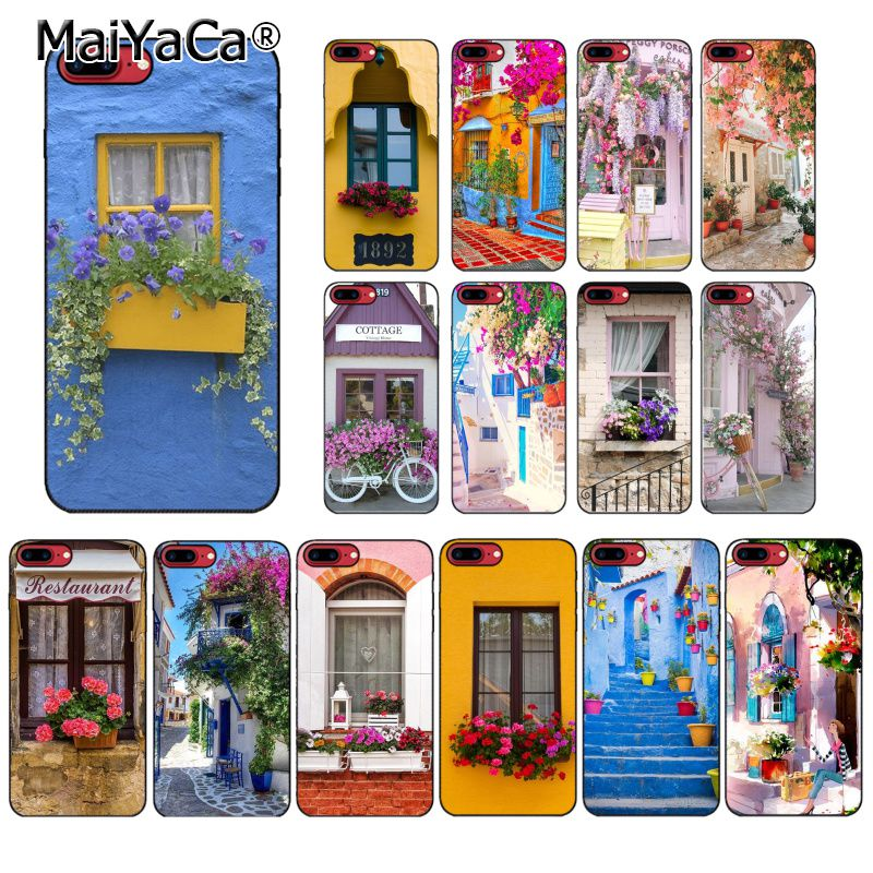 MaiYaCa Travel Places Windows Flower Garden Romantic Life Phone Case For iphone 11 Pro 11Pro MAX 8 7 6 6S Plus X XS MAX 5S SE XR image