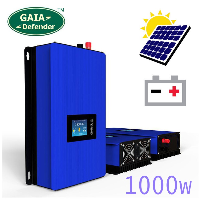 1000W Battery Discharge Power Mode MPPT Solar Power Grid Tie Inverter DC 22V 60V or 45V