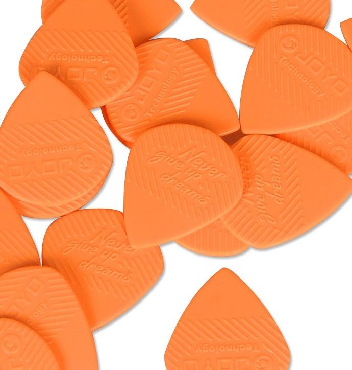 ABS 100pcs/Lot Non-Slip Electric Acoustic Bass Guitars Brands Folk Picks Heavy 1.5mm Durable POM Orange/Black Plastic Picks