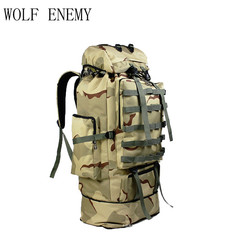 100L Military Molle Tasche Camping Taktische Rucksack Männer Große Rucksäcke Wandern Reise Outdoor Sport Taschen Rucksack