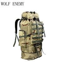 100l militar molle saco de acampamento tático mochila dos homens grandes mochilas caminhadas viagem ao ar livre sacos desporto