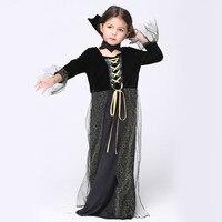 Halloween Vampire Princess Girl Vampire Halloween Dress Costume Dress Necklace Set Kid Party Dress Performance Cosplay