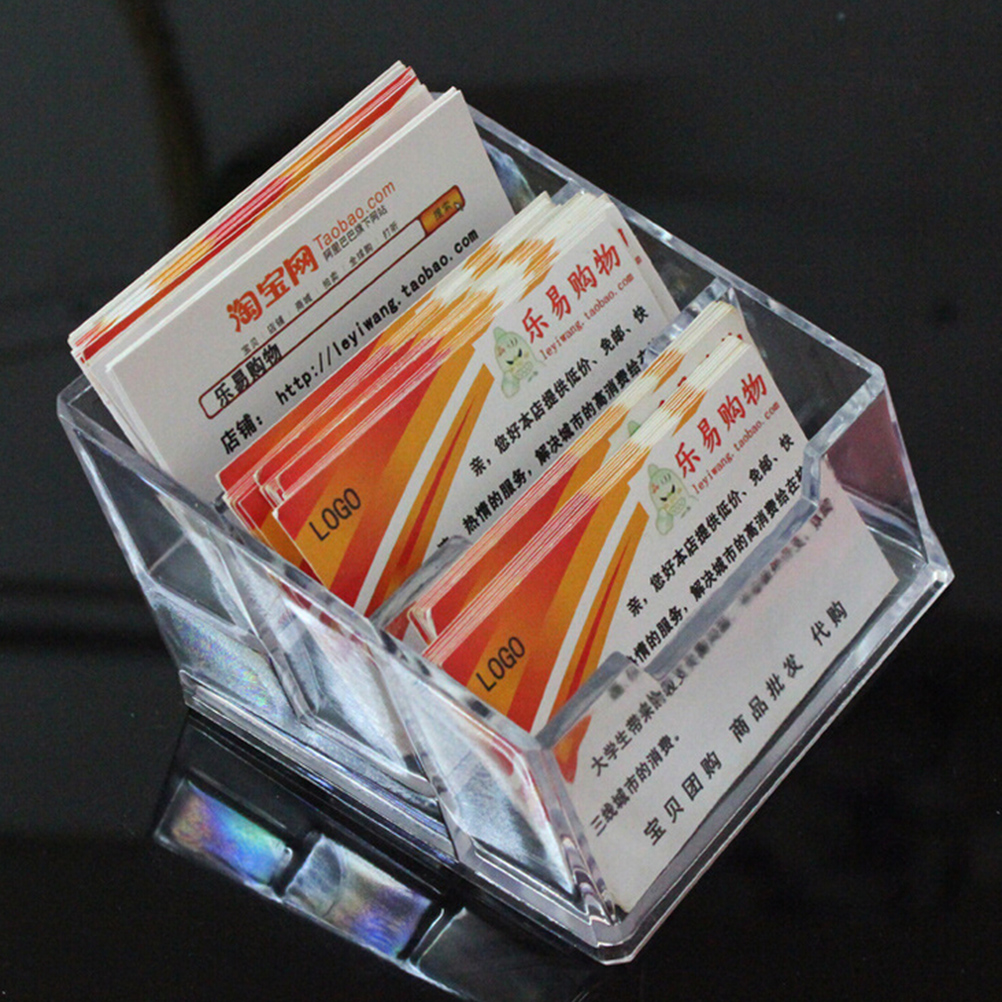 Office & School Supplies Good 2/3tier Desktop Desk Shelf Box Storage Acrylic Business Id Card Desk Stand Holder Display Office School Stationery Supplies Fine Craftsmanship Desk Accessories & Organizer