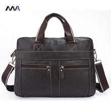 MVA Männer Echtes Leder-umhängetasche Männer Messenger Bags herren Aktentasche Handtasche Leder Laptoptasche Portfolio Männer Crossbody Taschen