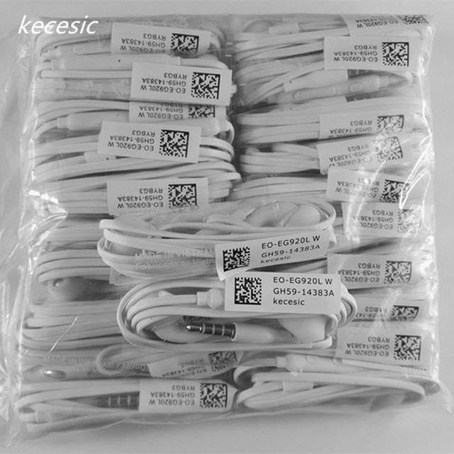 With microphone for MP3 MP4 Samsung Galaxy S7 S6 Edge for s8 earphone 10 pieces/lot For s6 Earphone in-ear  earpiece