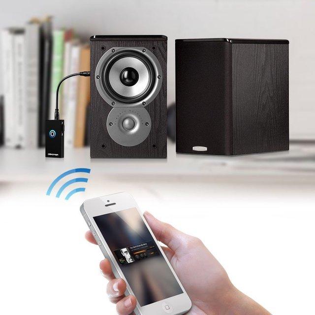 Wireless Bluetooth Dongle Transmisor y Receptor Estéreo A2DP de Música Audio Streaming de Música Portátil Mini 2-en-1 3.5mm 5 V