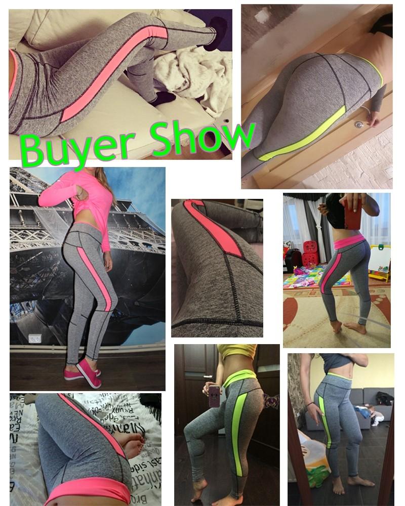 17 Women Lady Activewear Pink Legging Spring Summer light grey Pant Autumn High Waist Leggins 18 American Original Order 5