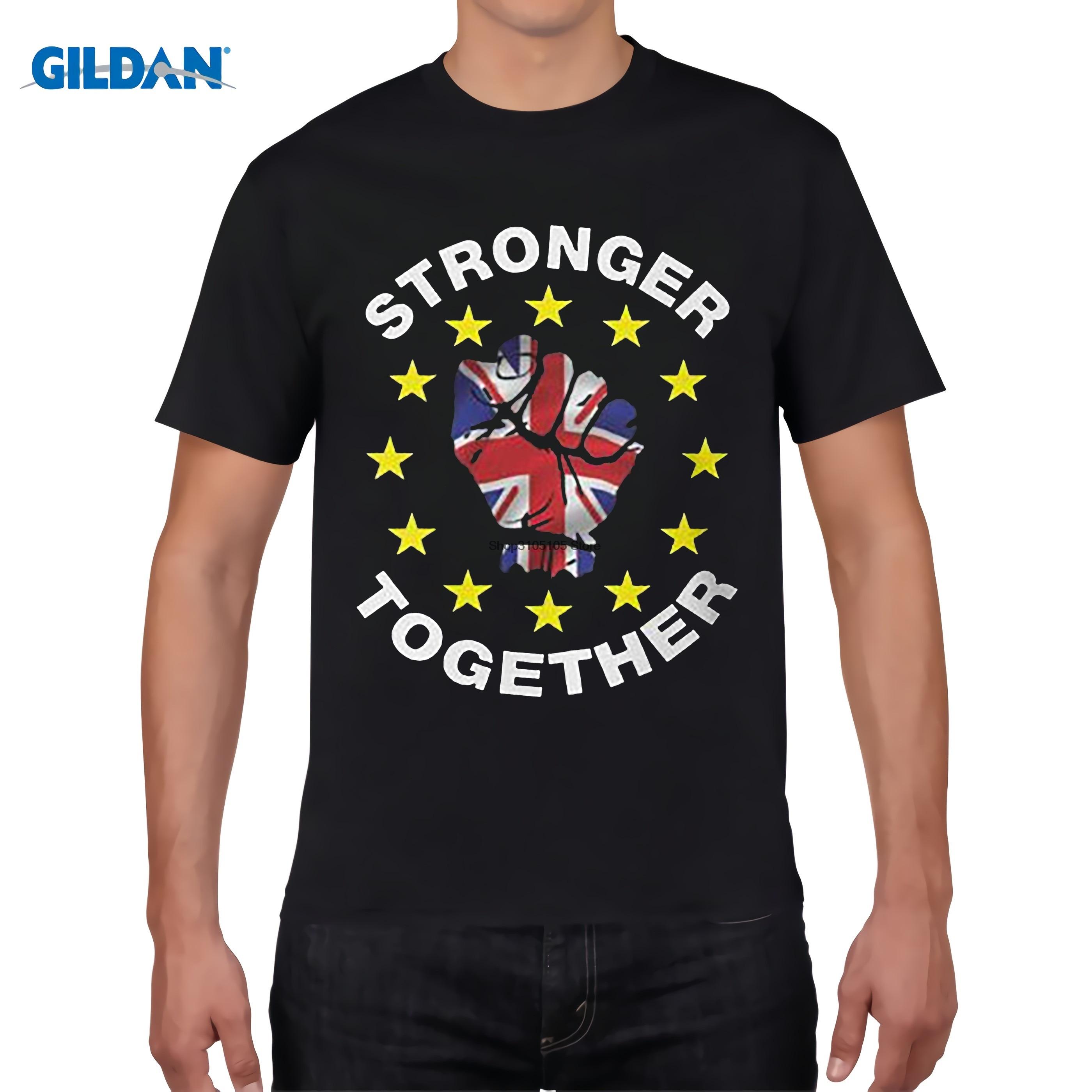 Design t shirt uk - Gildan Designer T Shirt Free Shipping Print Stronger Together Uk Brexit Ukip T