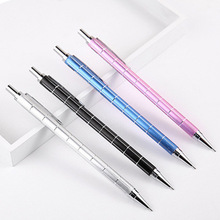 цены Metal Mechanical Pencils Automatic Pencil 0.5/0.7mm Stripe Graphite Drafting Pencil School Office Supplies Cute Stationery