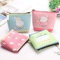 New 2015 Creative Cartoon Sheep Coin Purses Candy Color Coin Bag Key Wallets Canvas Gift Wallets Small Purse Korean Style