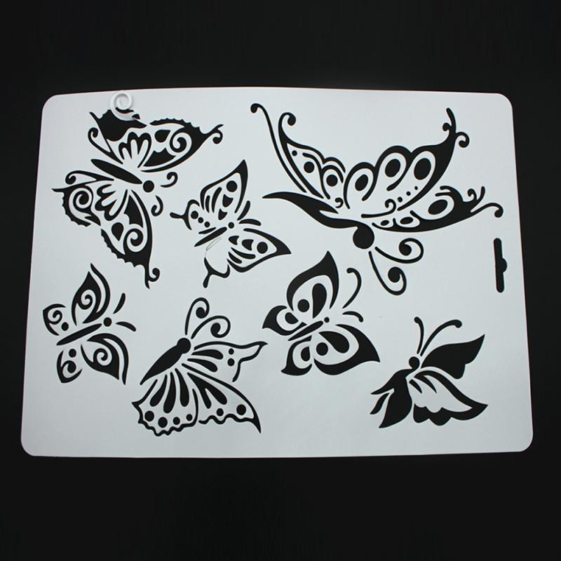 Cutting dies butterfly metal cutting dies stencils for diy for Farfalle decorative per muri