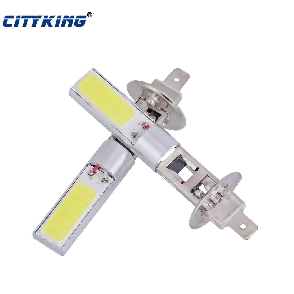 50 шт H1 светодиодный высокое Мощность COB 10 w автомобилей Белый h3 880 881 t10 светодиодный фонарь лампочка фары вождения Запуск 6000 K белый свет