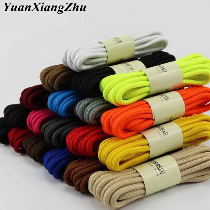 1Pair Round Solid Shoelaces Top Quality Polyester Shoes Lace Solid Classic Round Shoelace Sneakers Boots Shoes String YD-1