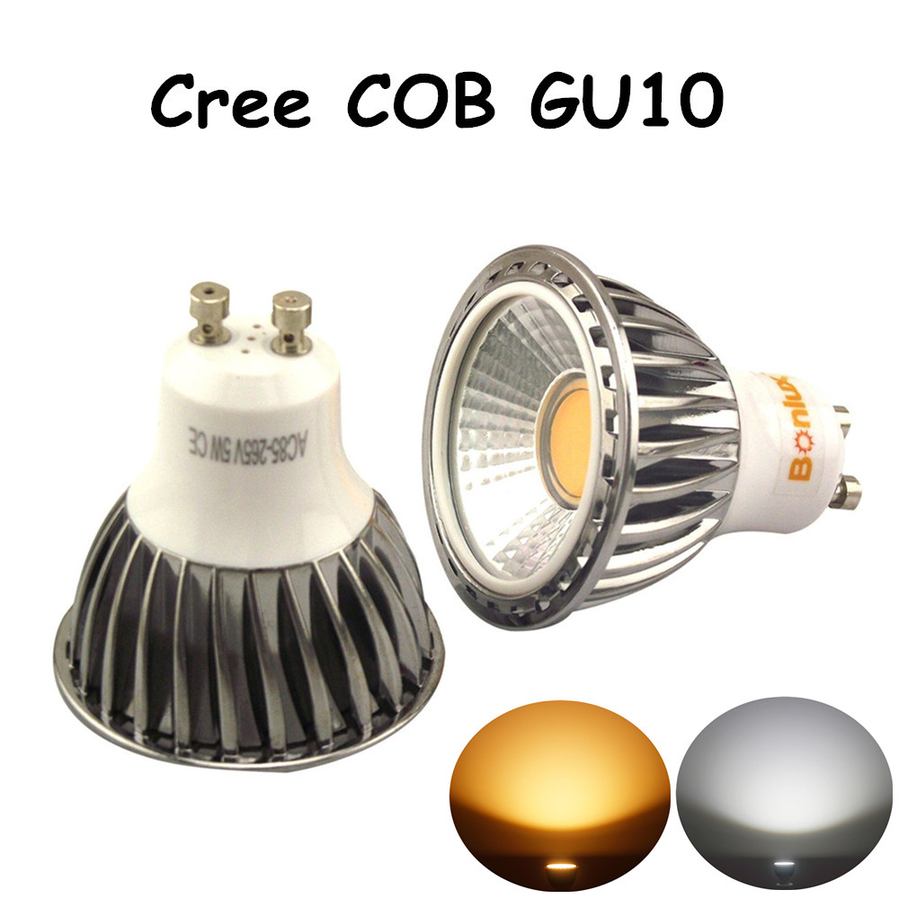 Led Gu10 5w Us 26 5w Led Gu10 Bulb Cree Cob Gu10 Spotlight With 50w Halogen Gu10 Light Bulb Replacement For Living Room Kitchen Bedroom Lighting In Led Bulbs