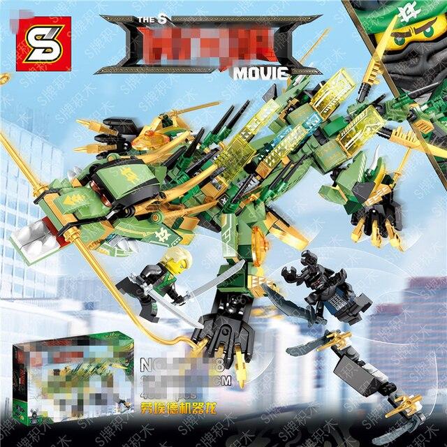 480pcs Ninjago Set Green Ninja Mech Dragon Lloyd Garmadon S ...