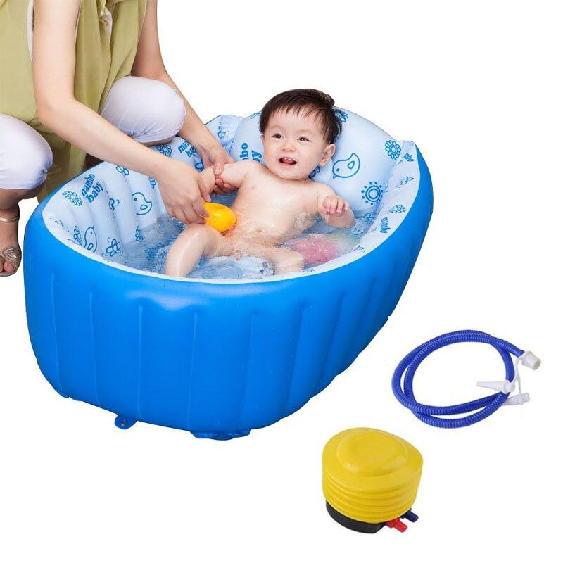 Plastic Baby Tub Swimming Pool Portable Bathtub Inflatable Bath Tub Child Tub Shower Cushion Keep Warm Winner Folding Bathtub